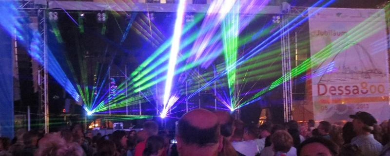 LAZER-TRON Stadtfest 800 Jahre Dessau